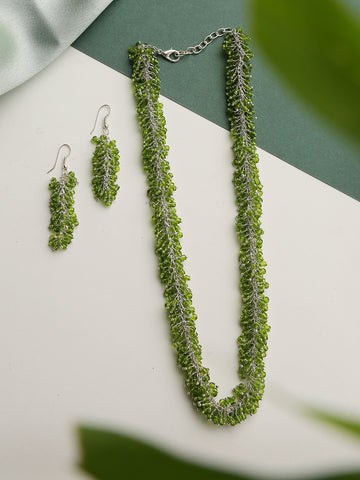 Infuzze green Handcrafted Necklace set