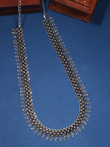 Infuzze Silver-Plated Oxidised Brass Necklace - Z0090