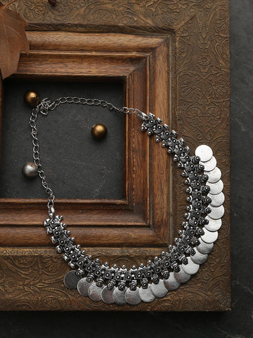 Infuzze Silver Choker Necklace