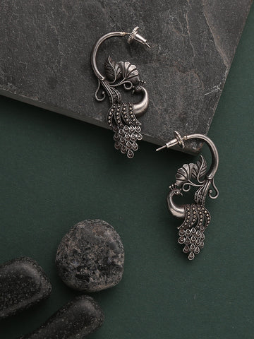 Infuzze Silver Oxidized Earrings