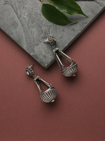 Infuzze Silver Silver Look alike Earrings
