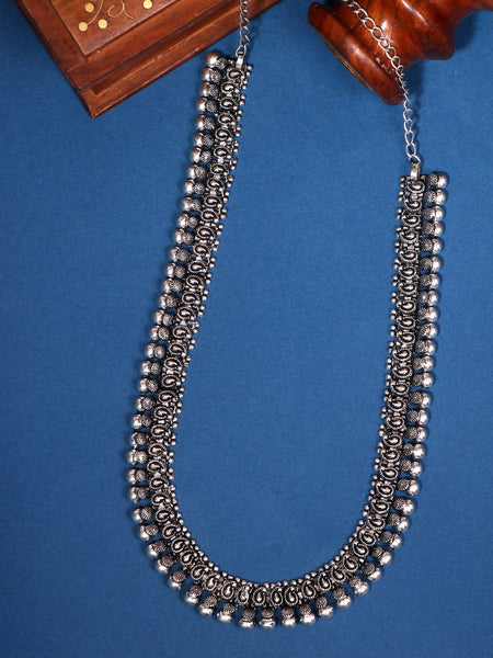Infuzze Silver-Plated Oxidised Brass Necklace - Z0077