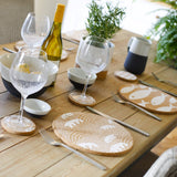 Sustainable coastal cork placemats table setting