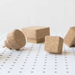 square cork door knobs