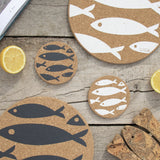 Cork Mats | Fish | White