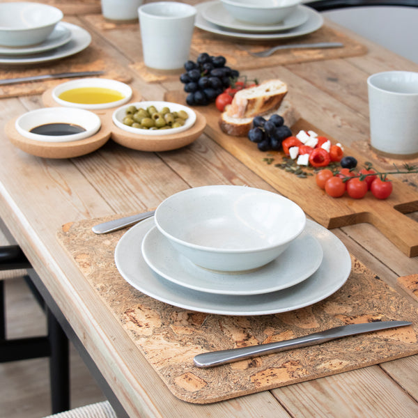 Cork Placemat Set | Rectangle | Ice Grey