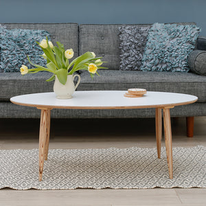 Pebble Coffee Table | White