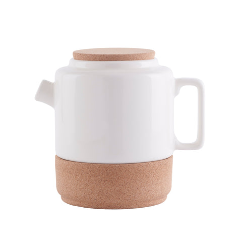 cork and pottery tea pot, sustainable eco living