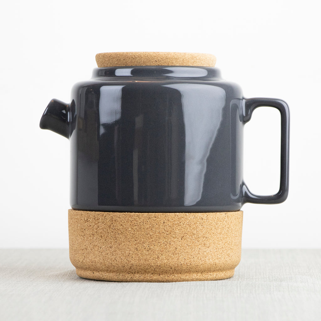 Eco Cork and Ceramic Storm Grey Teapot