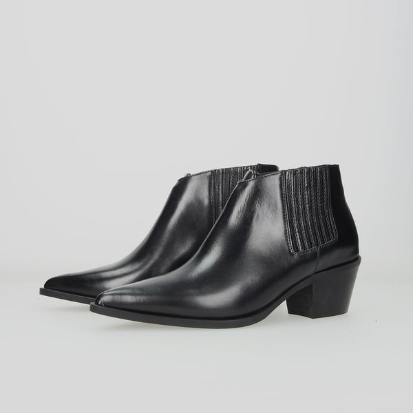 Crosswalk Western Ankle Boot Black