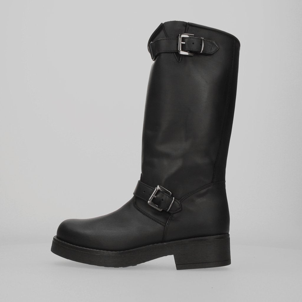 Stiu Biker Motor Boot Black