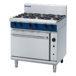 Blue Seal Evolution Series G56 D 900mm Gas Range Convection Ove