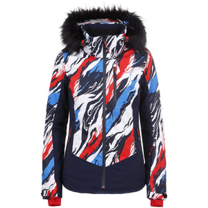 ICEPEAK FREELAND JACKET WM PRINTED SKI JACKET - MC SCHWEIZ