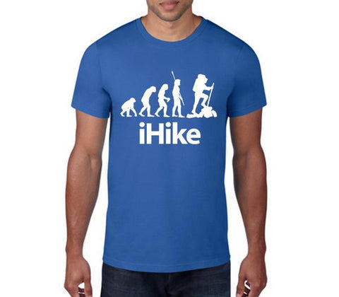 iHike Mens T-Shirt-Mens T-Shirt-Blue-S-Eager Threads