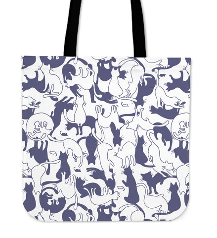 Purple Cats Tote Bag