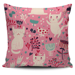 Funny Playful Cat Pillow Cover