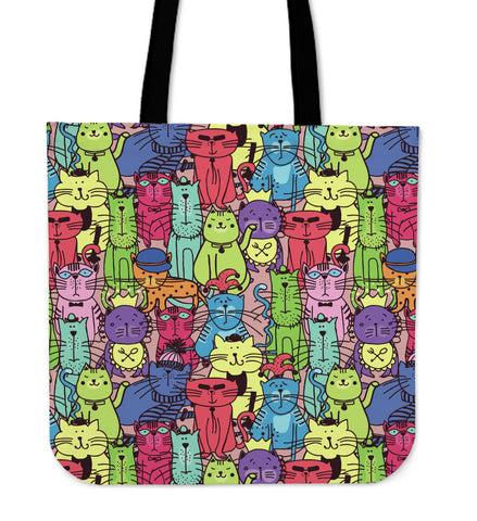 Cartoon Cat Tote Bag