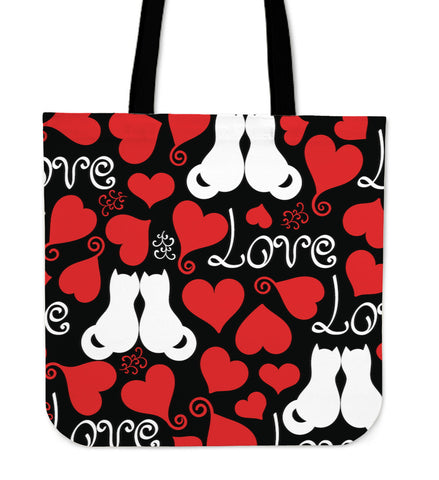 Red White Cat Tote Bag