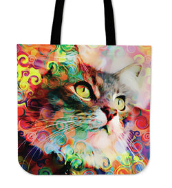 Rainbow Cat Tote Bag