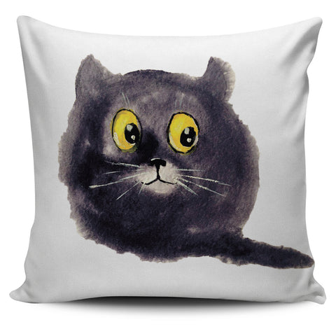 Cute Black Cat Pillow Cover