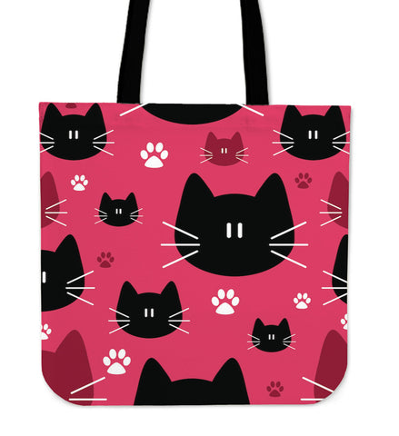Cute Seamless Cat Tote Bag