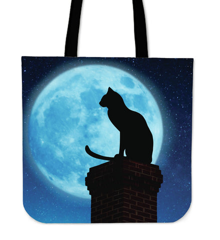 Blue Moon Cat Cloth Tote