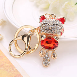 Happy Cat Crystal Keychain / Purse Pendant
