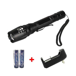 Powerful LED Flashlight + Battery & Charger