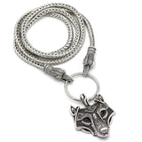 Viking Wolf Pendant/Necklace With Gift Bag