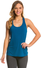 Beyond Yoga, Split Racer Tank Mosaic Blue