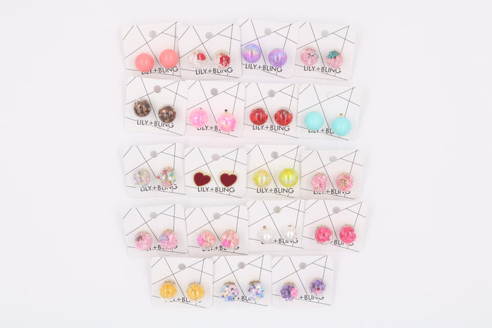 Colors of the Wind Glass Ball Earrings