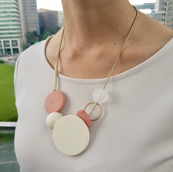 Circa 98 Necklace - Peach