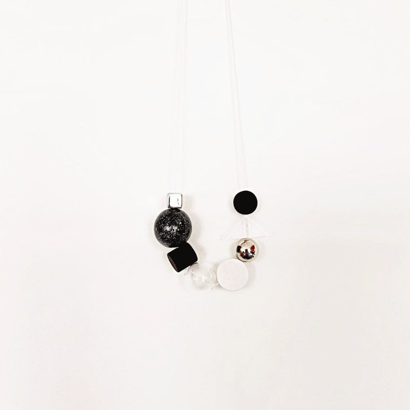 A/S Necklace - Black Cosmo