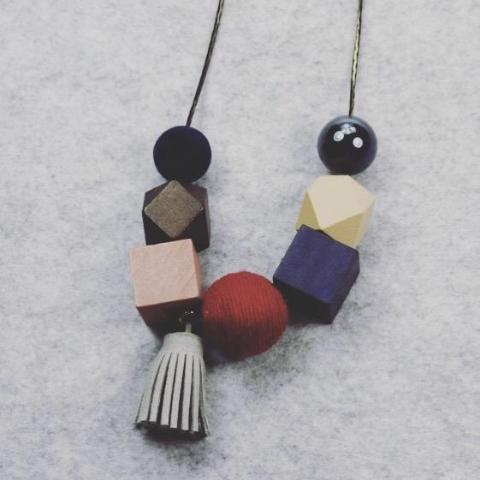 Miffy Geometric Necklace in Auspicious Velvet