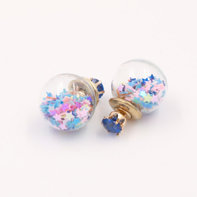 Starry Night Glass Ball Earrings