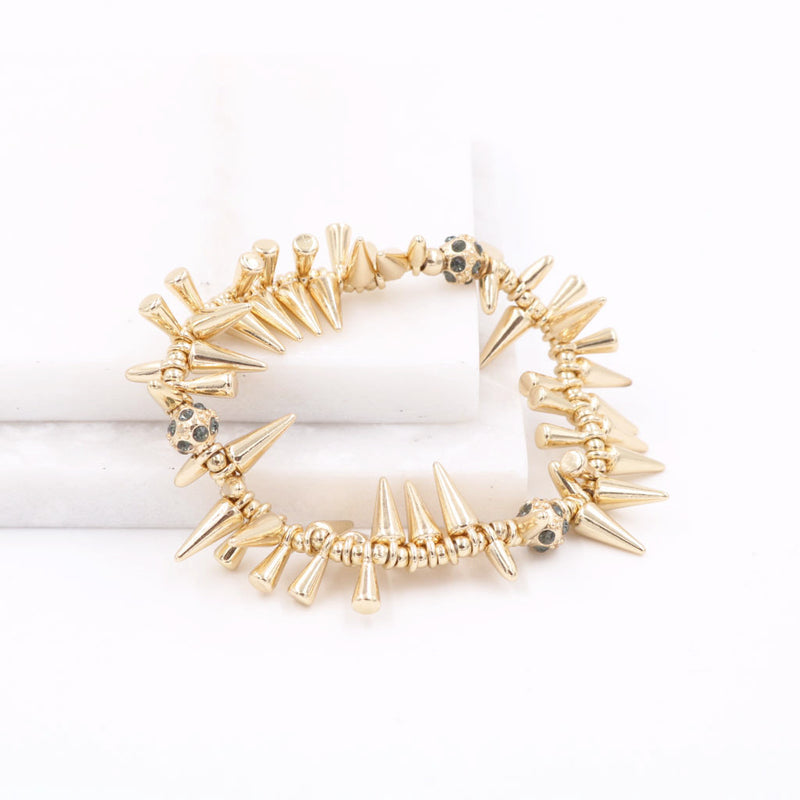 Nana Studs & Rocks Bracelet in Gold