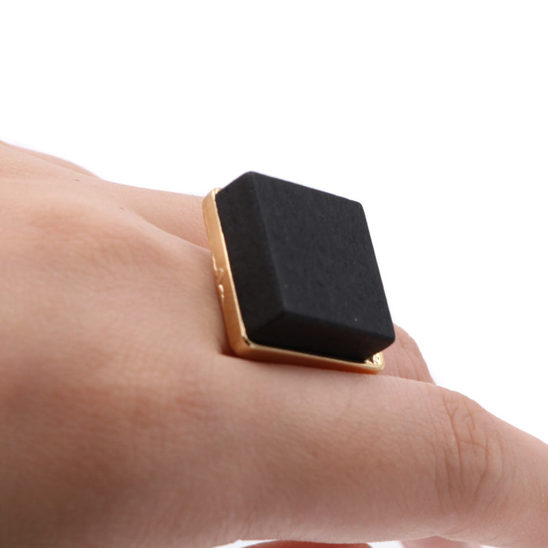 The Black Wood and Gold Ring (Restocked)