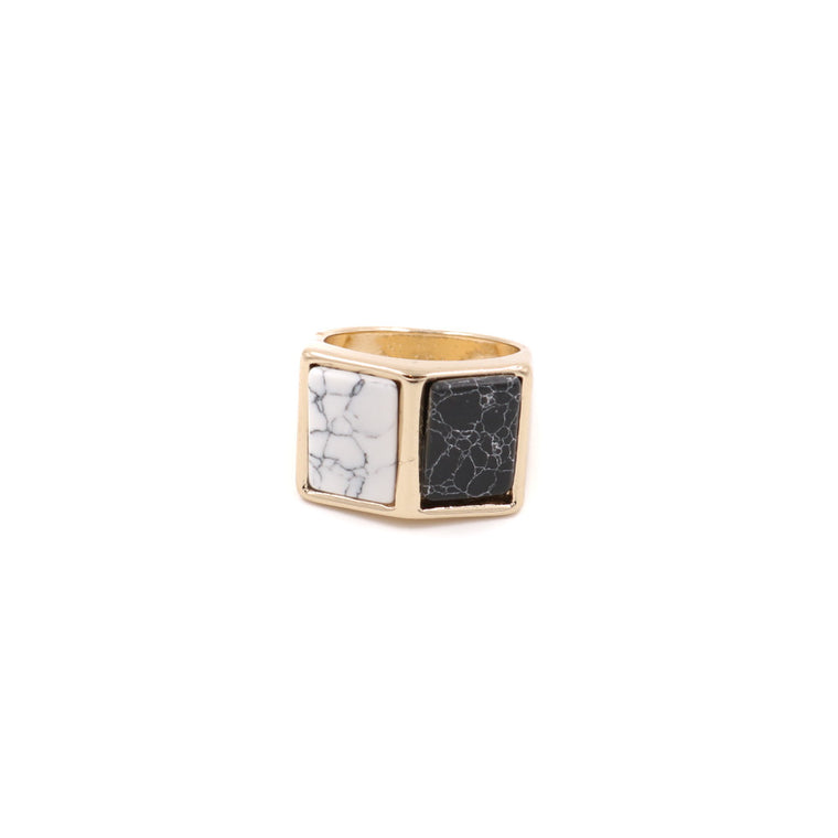 Marble Panel Ring
