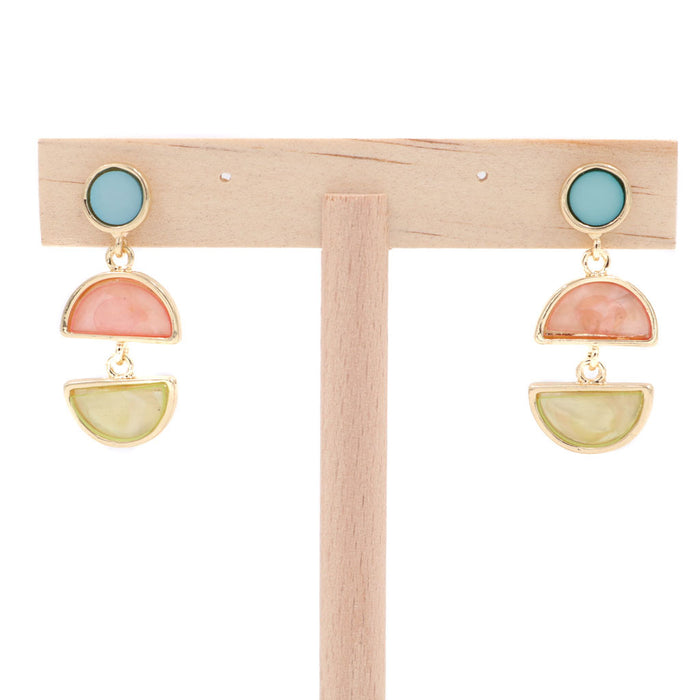 Bally Drip Earrings - White/Baby Blue (Restocked)