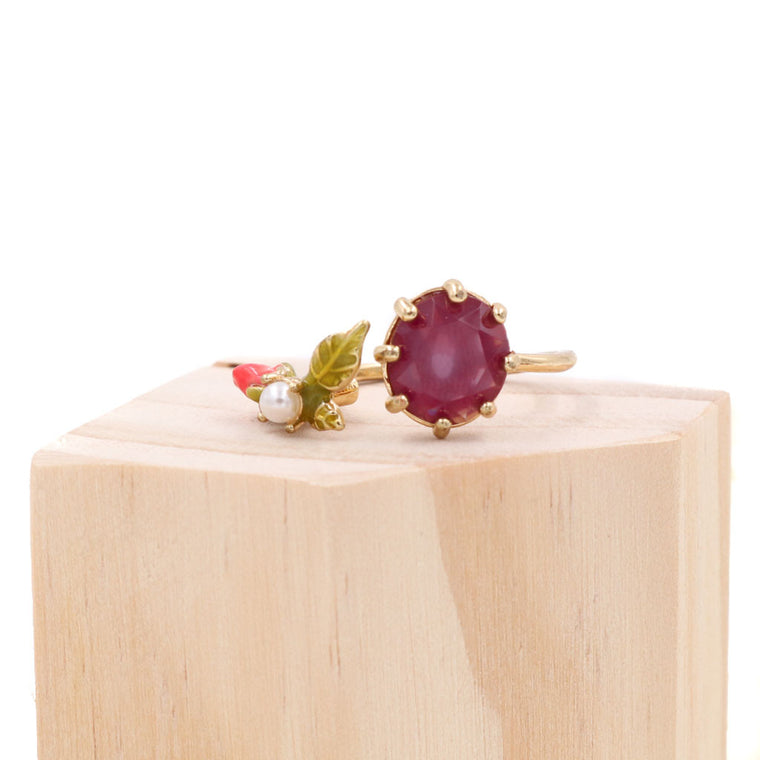 BACK IN STOCK: Fleur French Enamel Gem Ring (Restocked)