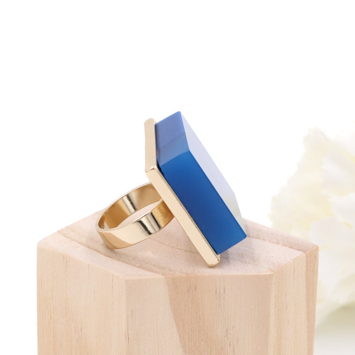 The Blue Square Statement Ring (Restocked)