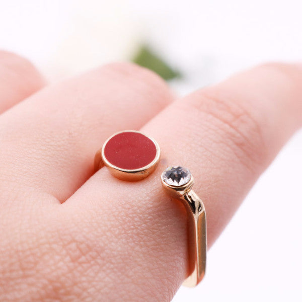 BACK IN STOCK: Zea Square Ring - Black/Red (Restocked)