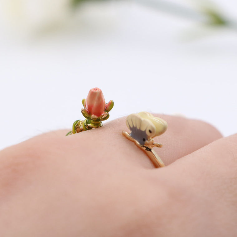 Jardin French Enamel Ring