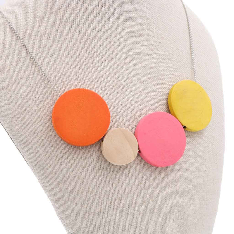 BACK IN STOCK: Handmade Ice Cream Pop Geometric Necklace (#2) - Restocked