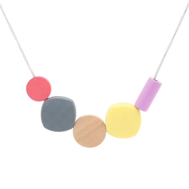 Handmade Ice Cream Pop Geometric Necklace (#1) - Restocked