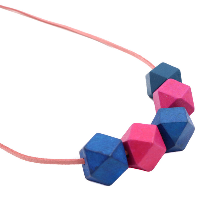 BACK IN STOCK: Handmade Colorpop Geometric Necklace II (#1) - Restocked
