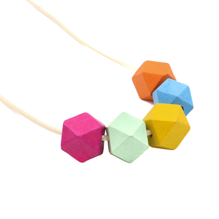 Handmade Colorpop Geometric Necklace II (#2) - Restocked