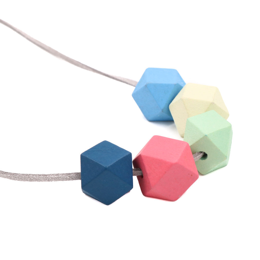 BACK IN STOCK: Handmade Colorpop Geometric Necklace II (#3) - Restocked