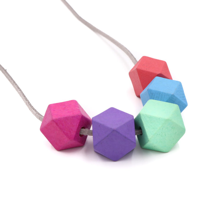 Handmade Colorpop Geometric Necklace II (#4)