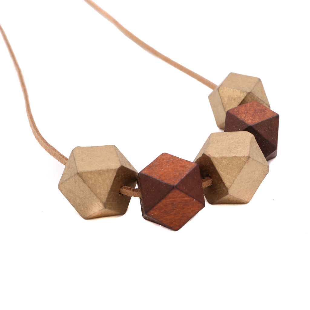 Handmade Colorpop Geometric Necklace II (#6) - Restocked